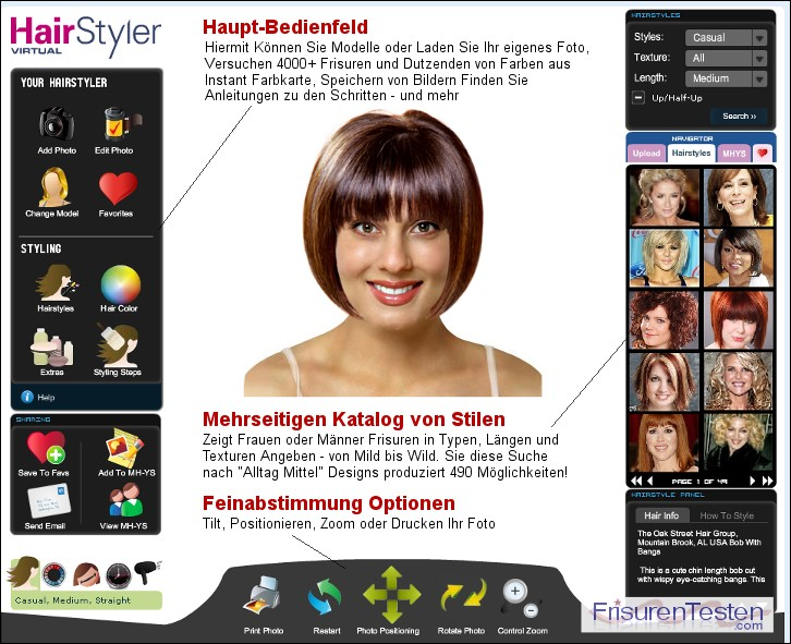 frisuren testen - laden sie ihr foto - virtuelle frisuren